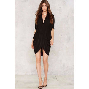Deep V-Neck Nasty Gal Black Dress size Extra small
